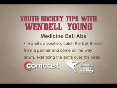 Youth Hockey Tips with Wendell Young - Medicine Ball