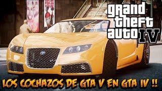 GTA IV MOD - Cochazos de GTA V y Trevor Gay !