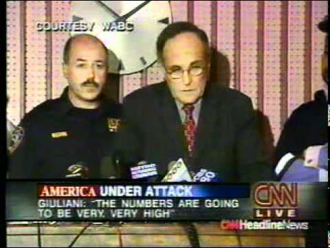 9/11 News Coverage:  10:00 PM: Mayor Giuliani Press Conference