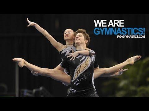 2012 Acrobatic Gymnastics Worlds LAKE BUENA VISTA - Mixed Pair Final - We are Gymnastics!