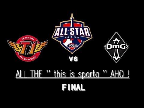 [ AllStar'14 ] ALL THE '' this is sparta '' AHO ! - Final - SKT T1 vs OMG