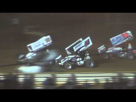 Lincoln Speedway World of Outlaws Highlights 7-17-14