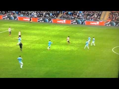 Yaya Toure Goal vs Sunderland Capital One Cup Final 2014 Martin Tyler Commentary
