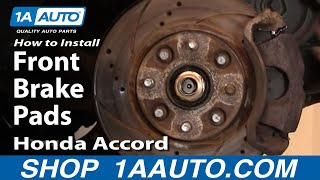 How To Install Replace Front Brake Pads Honda Accord 90-97