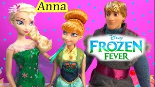 FROZEN FEVER Princess Anna Queen Elsa Birthday Party Doll