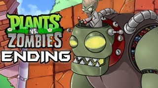Plants Vs. Zombies Gameplay Walkthrough Part 16 ENDING