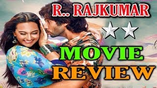 R Rajkumar Movie Review Bollywood Online Movie Review