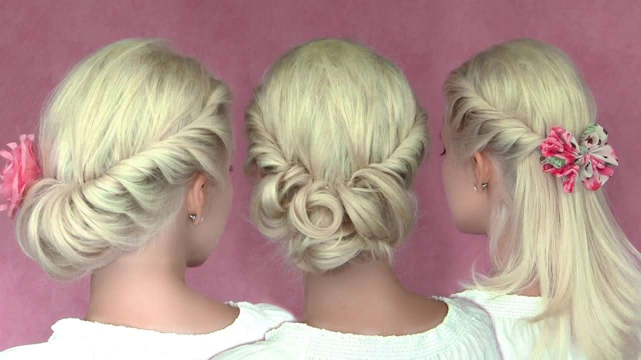 ... hairstyles for New Years eve for medium long hair tutorial - YouTube