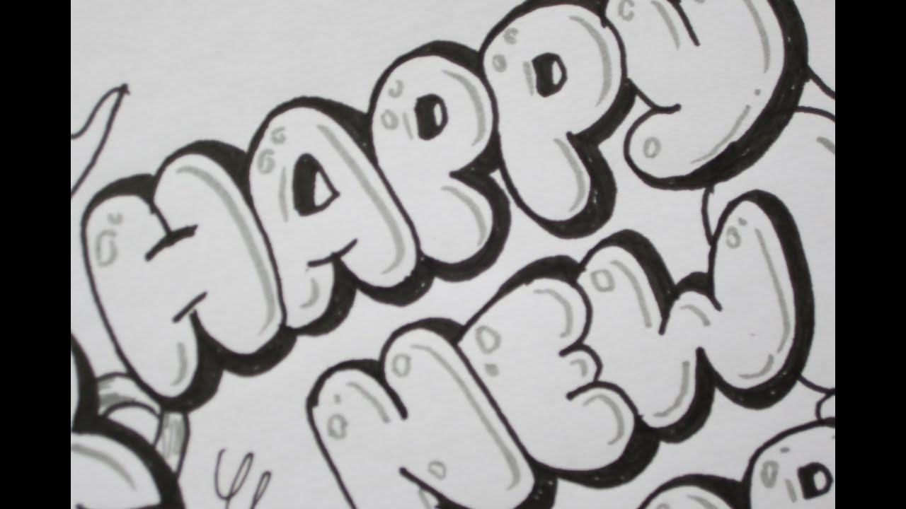 Happy Birthday Cards In Bubble Letters Submited Images