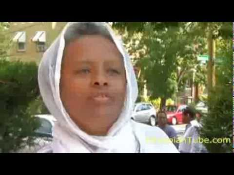 Ethiopian Man smashes St. Mary's picture at Ethiopian Orthodox Church in Washington, DC - Ethiopian