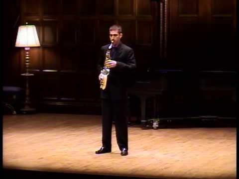 Sequenza IXb, by Luciano Berio / Doug O'Connor, alto saxophone – Part One