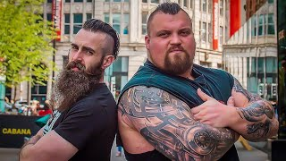 EATING CONTEST VS WORLD'S STRONGEST MAN 2017 EDDIE HALL | C.O.B. Ep.74