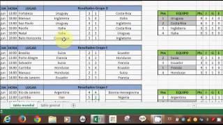 Calendario Del Mundial De Futbol En Excel Brasil 2014