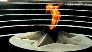 Вандал на вечном огне г. Артема