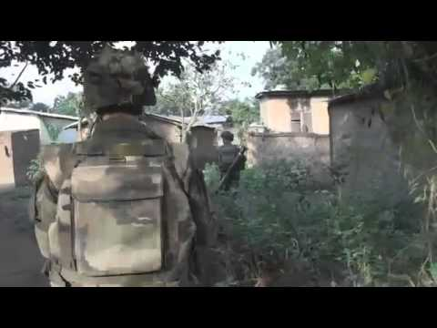 Operation Sangaris - French Armed Forces Patrol in Bangui in Central Africa