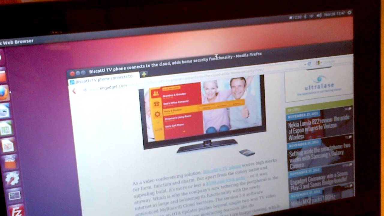 ASUS VivoBook X202E with Ubuntu 12.10: Touchscreen Demo
