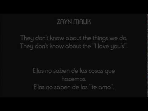 ONE DIRECTION - They don't know about us. [INGLÉS - ESPAÑOL]