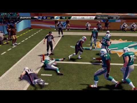 Madden 25 PS4 - New England Patriots vs Miami Dolphins - NFL 2013 Week 15 - 2nd Qrt - HD