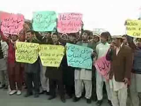 Students Protest Killing of 44 Women, Children in N. Waziristan by Paki-Punjabi Army of ISI