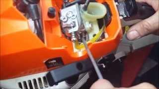 Como regular el carburador de una máuina en marcha