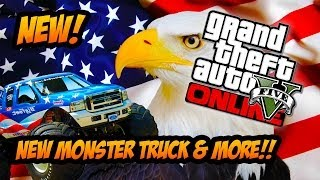 GTA 5 Online New MONSTER TRUCK! Independence Day Update