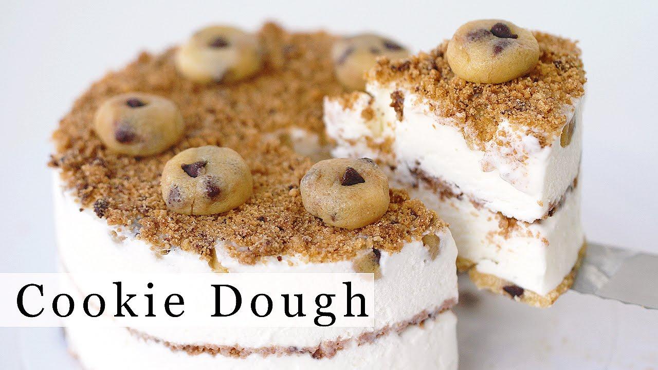 CHOCOLATE CHIP COOKIE DOUGH Ice Cream Cake Recipe 아이스크림 ...