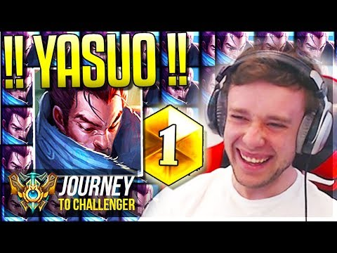 I'VE BECOME #1 YASUO NA!!!!!!!!!!! 1v9 - Journey To Challenger | League of Legends