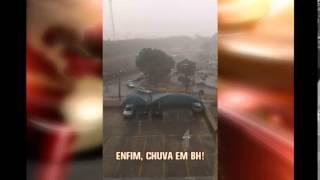 Depois de temperatura mais alta do ano, chove em Belo Horizonte