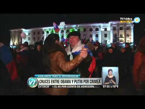 Visión 7: Cruces entre Obama y Putin por Crimea