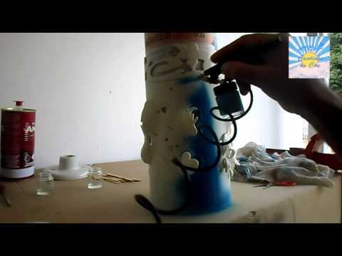 PINTURA LUMINARIAS PVC AEROGRAFO PARTE 1
