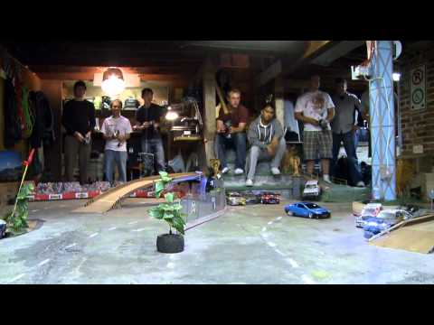 An Incredible Basement RC Drift Track  9C2010
