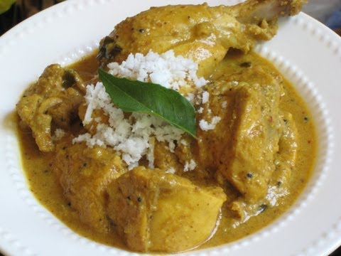 South Indian chicken curry with coconut milk recipe