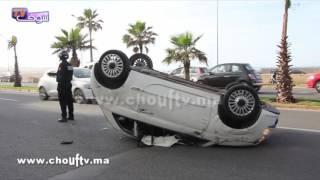 بسبب السرعة..طوموبيلة تقلبات فكازا و السائق بين الحياة و الموت(فيديو)  