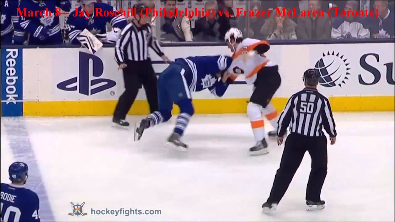 Top ten nhl hockey fights of march 2014 hd youtube