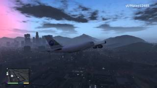 GTA V: How To Get A Big Plane & Fly It. (GTA 5 Plane
