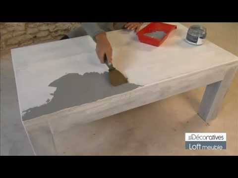 Peinture les d coratives loft meuble sur y - Les decoratives com loft beton cire ...