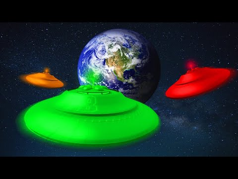 GTA 5 UFO SPACE RACE! (GTA 5 Funny Moments)