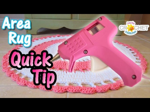 Area Rug Quick Hack - Hot Glue Gun DIY - Add a Little Grip To Your Rug