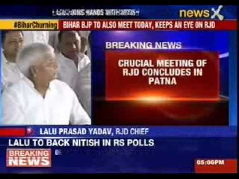 Nitish Kumar wants Lalu Prasad to support JDU to keep BJP out of power
