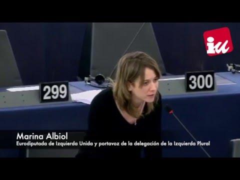 """Marina Albiol: """"Espero que los firmantes del acuerdo entre la UE y Turquía sean juzgados algún día"""""""