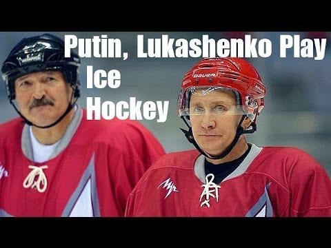 Putin & Belarusian President Play Ice Hockey in Sochi | 2014 Winter Olympics, Russia