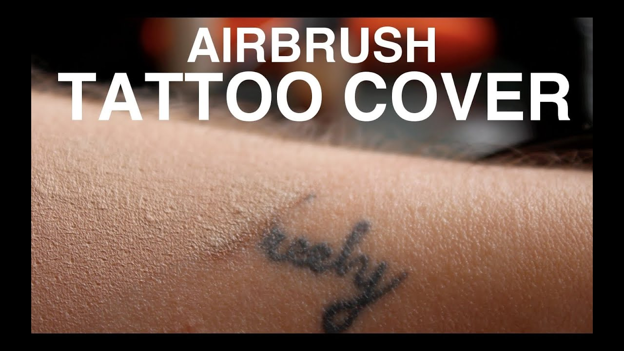 Tutorial airbrush tattoo cover youtube for Foundation to cover tattoos