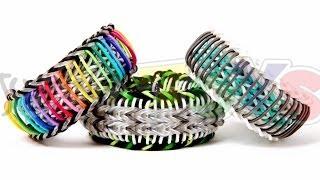 Super Stripe Fishtail Rainbow Loom Bracelet Tutorial