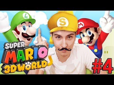 Super Mario 3D World [#4] - Zaglądamy księżniczce pod spódniczkę ( ͡° ͜ʖ ͡°)
