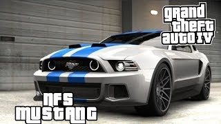 GTA IV MODS: Ford Mustang GT (Need For Speed Movie)