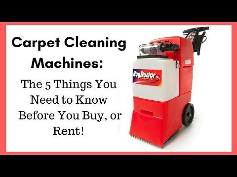 carpet cleaning machine rental home depot