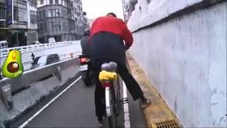 Borracho manejando bicicleta