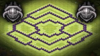 Clash Of Clans Best Town Hall 8 Trophy Base, Hybrid Base