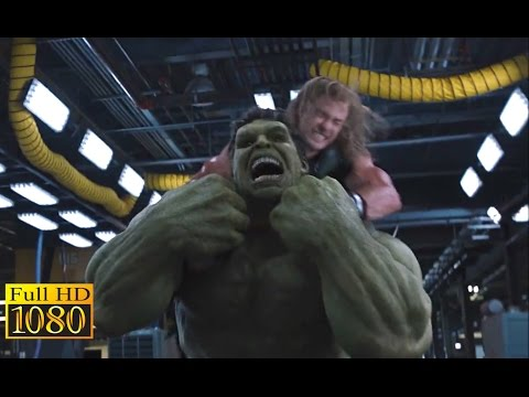 The Avengers (2012) - Hulk Vs Thor | S.H.I.E.L.D. Helicarrier Fight Scene (1080p) FULL HD