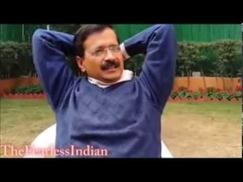 Arvind Kejriwal accepting Modi Wave behind Camera